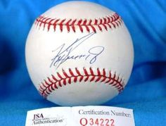 Signed Ken Griffey Jr Ball  COA AMERICAN LEAGUE  JSA Certified  Autographed Baseballs * Continue to the product at the image link. (Note:Amazon affiliate link)