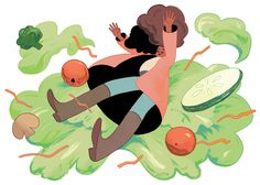 My very first cover illustration! For The Washington Post, '11 Strategies For Getting Through the Holidays Without Weight Gain'. You can read the article here. Thanks to AD Amanda Soto!