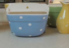 Australian Diana ware Spotty ~ Polka Dot ~ SALT CADDY ~ Rare
