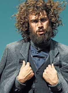 SPYROS CHRISTOPOULOS for CÓDIGO ÚNICO by Sergi Jasanada, via Behance Ha! I found someone with my hair!