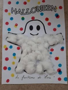 halloween craft for kids Manualidades Halloween, Holiday Crafts For Kids, Preschool Christmas, Halloween Crafts For Kids, Halloween Activities, Holidays Halloween, Spooky Halloween, Halloween Themes, Halloween Decorations