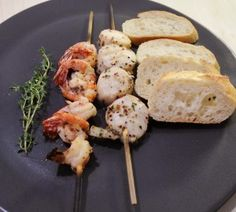 This marinade is fabulous on shellfish!  http://oracibo.com/recipe/scallop-brochette/  Great as an appetizer too!