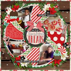 Using Christmas Single 24: Sweet Treats template by Cindy Schneider  and A Fairytale Christmas: Sweet by Kristin Cronin Barrow and pieces from various other KCB kits