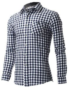 FLATSEVEN Men's Slim fit Navy and White Grid Check Single Pocket Long Sleeve Shirts (SH420) Navy, XL FLATSEVEN http://www.amazon.com/dp/B00S3SGHNK/ref=cm_sw_r_pi_dp_Ybj1ub0DPE41S