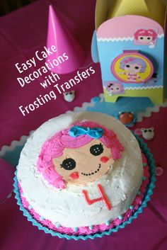 Easy Cake Decorating with Frosting Transfers So easy! Perfect for birthdays, holidays and anniversary!