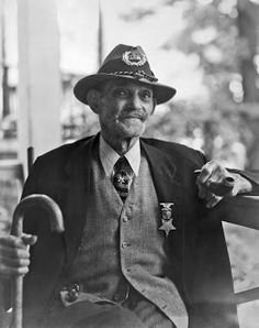 """Charles H. Anderson, age 92, 1936-38 [Note that Mr. Anderson sports a hat with the logo """"G.A.R."""", standing for Grand Army of the Republic, meaning that in addition to being a former slave, he is a Union Army veteran.]  Vintage Photos: Born in Slavery"""