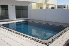 Modern overflow swimming pool