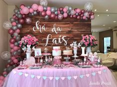 Baby Shower Nena Candy Bars Ideas For 2019 Baby Shower Desserts, Baby Shower Parties, Baby Shower Themes, Baby Shower Decorations, Balloon Garland, Balloon Decorations, Birthday Decorations, Balloons, Baby Birthday