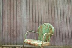 old metal lawn chairs -- the more rust, the better. Rust has stories to tell.
