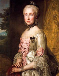 1765 Portrait of Maria Luisa of Spain.Artist   Anton Raphael Mengs