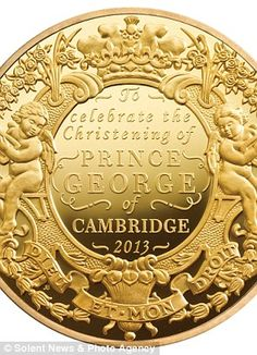 The £50,000 coin, which is part of the first ever set of British coins to commemorate a royal christening.