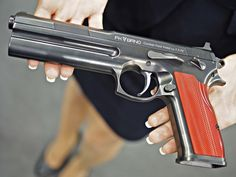 "gunrunnerhell: "" BRNO 7.5 FK Field Pistol A new handgun that made waves on the internet when it was revealed, the 7.5 FK Field Pistol is based on the CZ-75 with some changes. It uses a unique..."