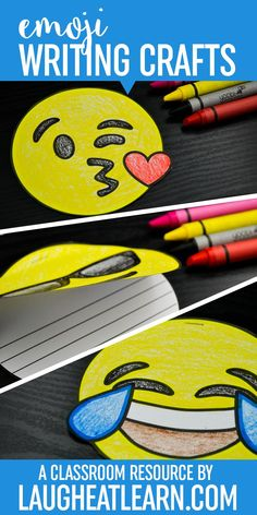 Emojis are the next big thing: Kids love them, teachers use them, everyone can relate to them in some form. Get your students writing with these fun emoticons writing books.