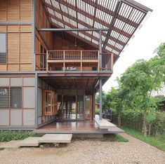 House Modern Exterior Dream Homes Arquitetura Best Ideas Facade Design, Exterior Design, Wood House Design, Thai House, Exterior House Colors, Facade House, Tropical Houses, Modern Exterior, House In The Woods