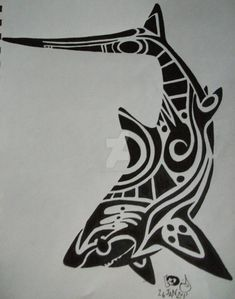 Thresher shark tattoo 2 by GleamingGrin