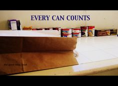 The Good Long Road: Wordless Wednesday: Every Can Counts - Hunger Action Month