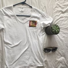 American apparel shirt American apparel v neck. size M. American Apparel Tops Tees - Short Sleeve