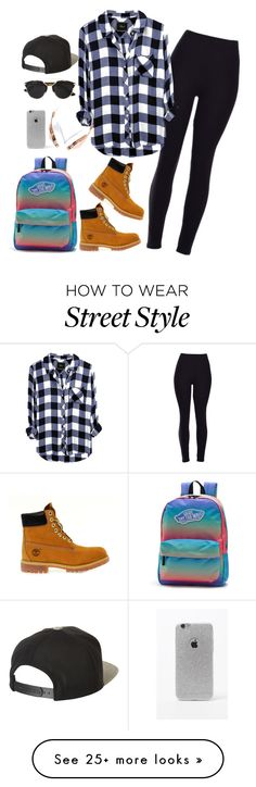 """Street style"" by melisa2310 on Polyvore featuring Timberland, Vans, Brixton, Christian Dior, LA: Hearts and Frends"