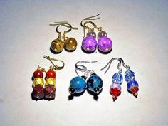 5 pairs of genuine gemstone earrings for 30 by ElegantJewelrybyJFK, $30.00
