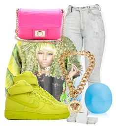 """Untitled #282"" by boss-218 ❤ liked on Polyvore featuring NIKE, Versace, Eos and Juicy Couture"