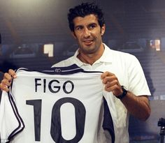 Luis Figo became the first of the modern Madrid Galacticos when he was signed in 2000
