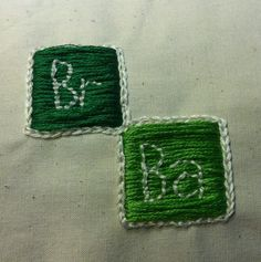 BrBa My friend embroidered the Breaking Bad logo