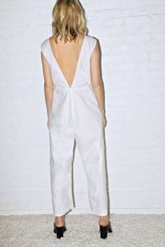 White Linen New Judo Jumpsuit - Dresses & Jumpsuits