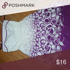 Purple and white strapless dress Very cute strapless dress, worn once. Size 3/4. Dresses Strapless
