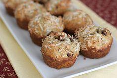 Banana Coconut Chocolate Chip Muffins |
