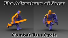 The Adventures of Gorm - Combat Run Cycle - Unreal Engine 4 - Game in P...