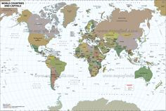 world map with countries - Free Large Images
