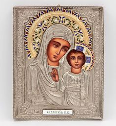 Alexandra Russian Icon Hand Painted Silver Gold Enameled Antique Style Icon  | eBay