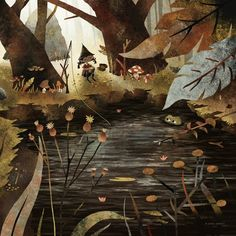A Quiet Place, an art print by Greg Abbott Forest Illustration, Children's Book Illustration, Watercolor Illustration, Greg Abbott, Fairytale Art, Cool Art, Concept Art, Thing 1, Art Prints
