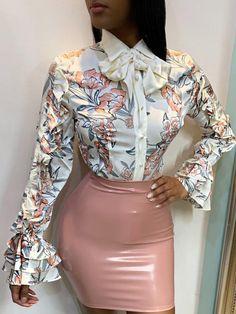 Blouses & Shirts – Page 2 – shyfull Blouse Styles, Fashion Outfits, Womens Fashion, Cheap Fashion, Fashion Ideas, Classy Outfits, Fashion Prints, Blouses For Women, Autumn Fashion