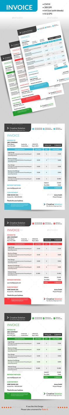 invoice templates and business templates, 15 free with sources in, Invoice examples