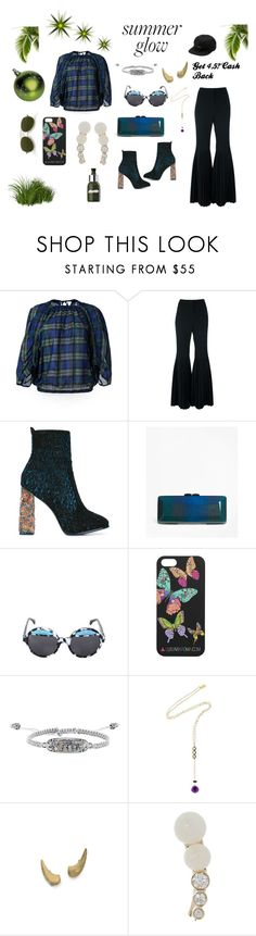 """""""checked blouse"""" by jamuna-kaalla ❤ liked on Polyvore featuring En Route, STELLA McCARTNEY, Sophia Webster, Brooks Brothers, Ernesto Esposito, Kendra Scott, Katerina Psoma, Auden, Sophie Bille Brahe and Vans"""