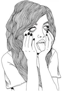 grunge, art, and drawing image Tumblr Hipster, Png Tumblr, Tumblr Girls, Tumblr Drawings, Art Drawings, Letters Tattoo, Girls Heart, Art Kawaii, Kawaii Goth