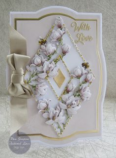"""Hello everyone, DT samples for Tattered Lace """"Raspberry Roses Collection"""" Launching on Create and Craft TV. Create And Craft Tv, Acetate Cards, Tattered Lace Cards, Embossed Cards, Heartfelt Creations, Creative Cards, Flower Cards, Hobbies And Crafts, Homemade Cards"""