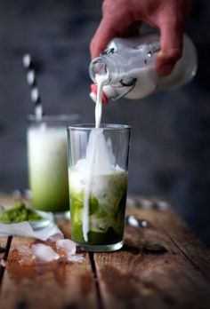 Take your favorite winter drink into summer with this icy-cool iced matcha latte recipe.