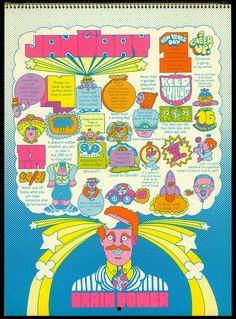Psychedelic Hallmark Calendar, 1970 - 1/71
