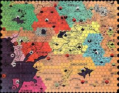 This board from the 1970s game Divine Right uses a great hexagonal design. See the world differently with Simon Garfield's new book.