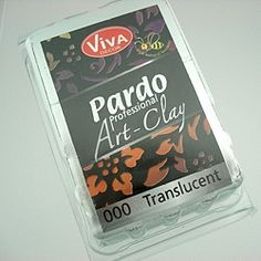 Pardo Polymer Clay by Viva Decor - 56gm This high quality clay is particularly suited for intricate designs and polymer clay cane work. It is firm enough to maintain fine edges. The premium pigments allow custom colour mixing and the metallic colours (Pardo Professional Mica-Clay) are perfect for mica-shift techniques.  Once baked pieces are saliva & sweat resistant and can be sanded polished or drilled. Pardo Professional Art Clay contains beeswax and premium pigments.  AU $4.95