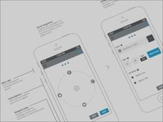 Wireframe for mobile device product design Wireframe Design, Design Ios, Mobile Ui Design, Tool Design, Design Thinking, Motion Design, Information Architecture, Grid Layouts, User Experience Design
