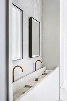 Entzuckend Bath, Stone, White, Brass   Hans Verstuyft Architecten / Interior *  Minimalism By