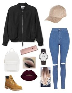 This is a casual look that I created! I really like the way the bomber jacket makes the outfit more trendy and casual. I've also been wanting a pair of timberlands  ~ LLT