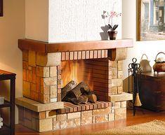 Risultati immagini per chimeneas esquineras rusticas Farmhouse Fireplace, Fireplace Mantels, Fireplaces, Chiminea, Classic House, Home Hacks, Villa, Decoration, My House