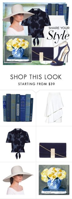 """""""Gallery visit"""" by dmg555 ❤ liked on Polyvore featuring Hostess, Marissa Webb, Equipment, Dorothy Perkins, Eric Javits, Oliver Gal Artist Co. and Jimmy Choo"""