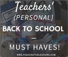 Back to School Must-