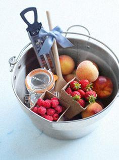Regalar fruta