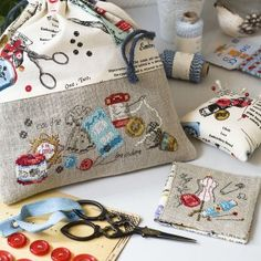 Les Brodeuses Parisiennes (available in English) French Cross-Stitch/Needlework Store « Couture vintage » 2 patterns